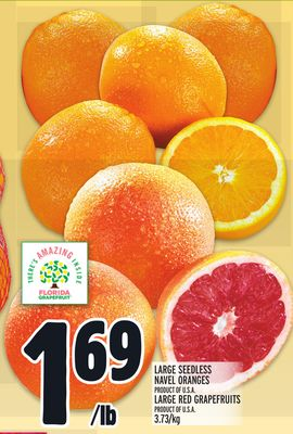 LARGE SEEDLESS NAVEL ORANGES