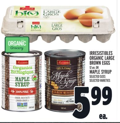 IRRESISTIBLES ORGANIC LARGE BROWN EGGS
