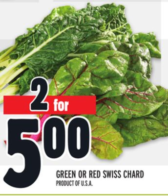 GREEN OR RED SWISS CHARD