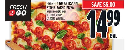 FRESH 2 GO ARTISANAL STONE BAKED PIZZA