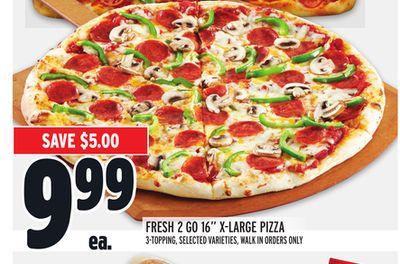 "FRESH 2 GO 16"" X-LARGE PIZZA"