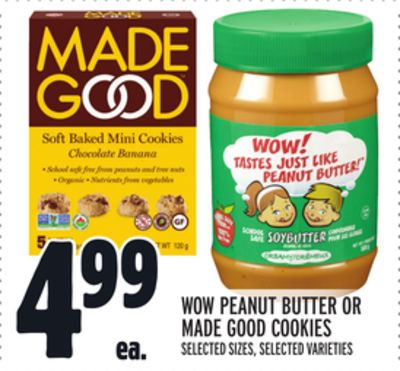 WOW PEANUT BUTTER OR MADE GOOD COOKIES
