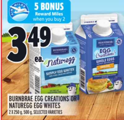 BURNBRAE EGG CREATIONS OR NATUREGG EGG WHITES