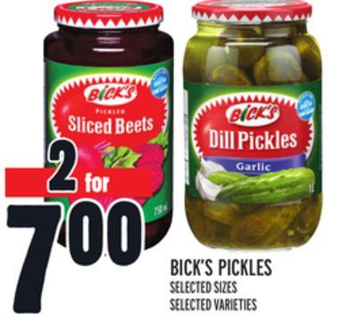 BICK'S PICKLES