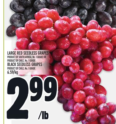 LARGE RED SEEDLESS GRAPES