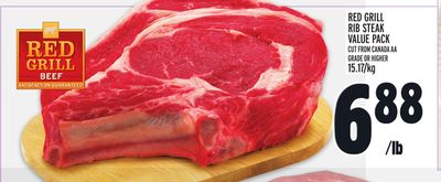 RED GRILL RIB STEAK VALUE PACK