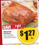 Whole Pork Butt Roast