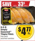 H-E-B Simply Seasoned™ Tilapia Fillets
