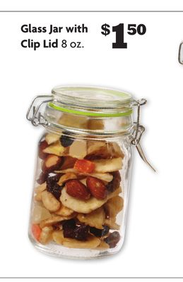 Glass Jar with Clip Lid