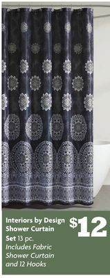 Interiors by Design Shower Curtain Set