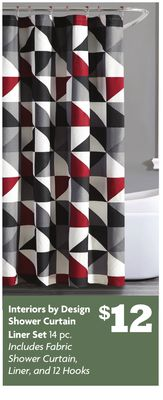 Interiors by Design Shower Curtain Liner Set
