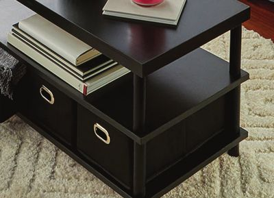 Coffee Table with Bins