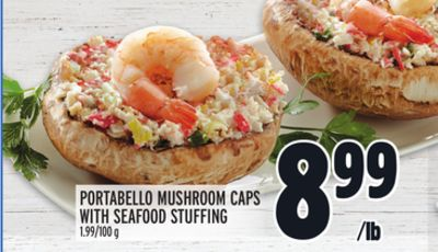 PORTABELLO MUSHROOM CAPS WITH SEAFOOD STUFFING