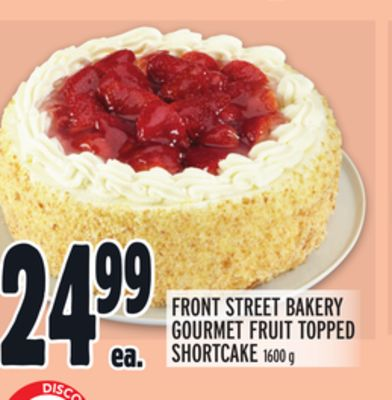 FRONT STREET BAKERY GOURMET FRUIT TOPPED SHORTCAKE