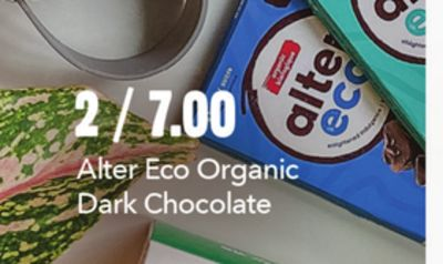 ALTER ECO ORGANIC DARK CHOCOLATE