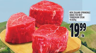 NEW ZEALAND SPRINGVALE GRASS FED BEEF TENDERLOIN STEAK