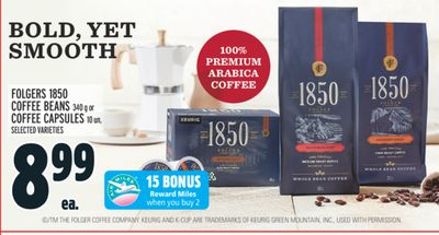 FOLGERS 1850 COFFEE BEANS