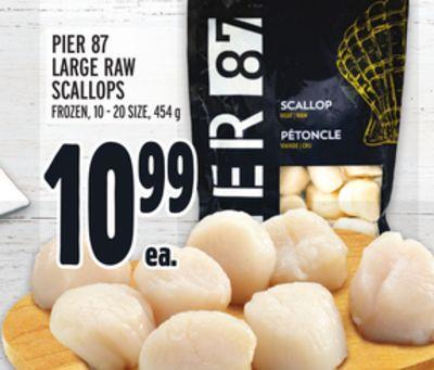 PIER 87 LARGE RAW SCALLOPS