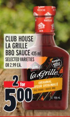CLUB HOUSE LA GRILLE BBQ SAUCE