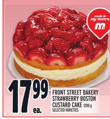 FRONT STREET BAKERY STRAWBERRY BOSTON CUSTARD CAKE