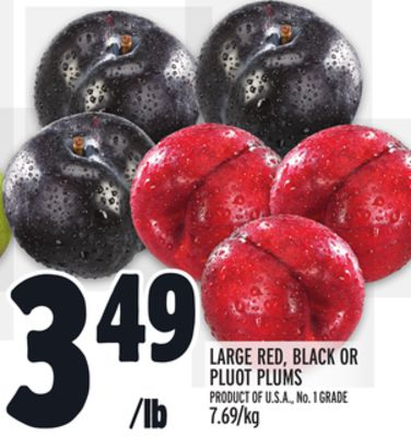 LARGE RED, BLACK OR PLUOT PLUMS