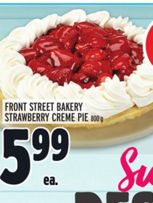 FRONT STREET BAKERY STRAWBERRY CREME PIE