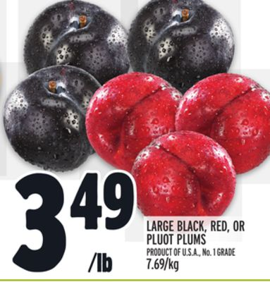 LARGE BLACK, RED, OR PLUOT PLUMS