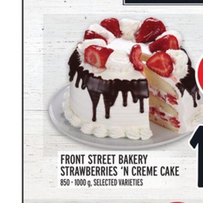 FRONT STREET BAKERY STRAWBERRIES 'N CREME CAKE