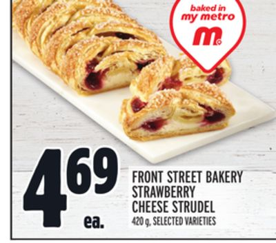 FRONT STREET BAKERY STRAWBERRY CHEESE STRUDEL