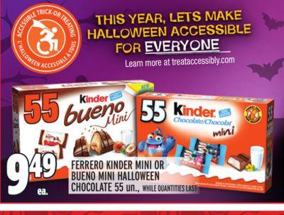 FERRERO KINDER MINI OR BUENO MINI HALLOWEEN CHOCOLATE