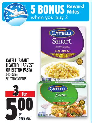 CATELLI SMART, HEALTHY HARVEST OR BISTRO PASTA