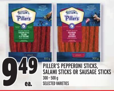 PILLER'S PEPPERONI STICKS, SALAMI STICKS OR SAUSAGE STICKS