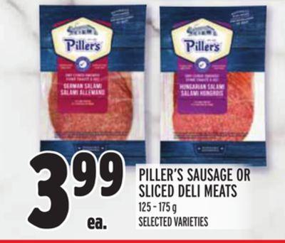 PILLER'S SAUSAGE OR SLICED DELI MEATS