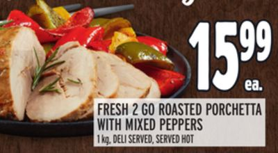FRESH 2 GO ROASTED PORCHETTA WITH MIXED PEPPERS