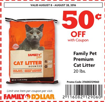 Coupons for cat litter 2018