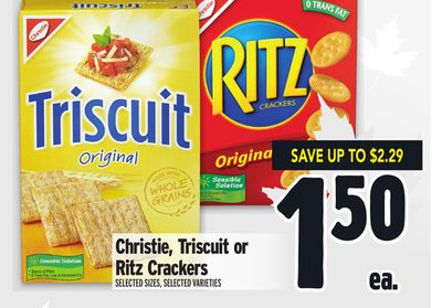Christie, Triscuit or Ritz Crackers