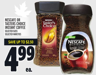 NESCAFE OR TASTERS CHOICE INSTANT COFFEE