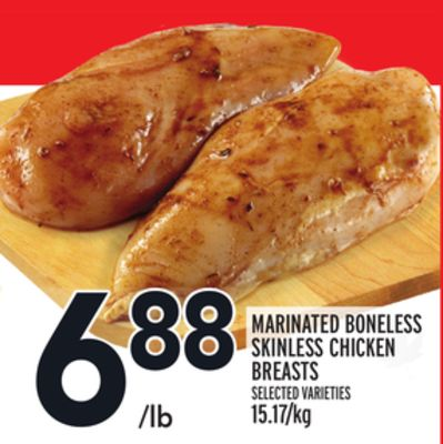 MARINATED BONELESS SKINLESS CHICKEN BREASTS