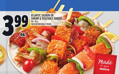 ATLANTIC SALMON OR SHRIMP & VEGETABLE KABOBS
