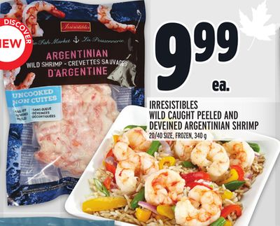 IRRESISTIBLES WILD CAUGHT PEELED AND DEVEINED ARGENTINIAN SHRIMP