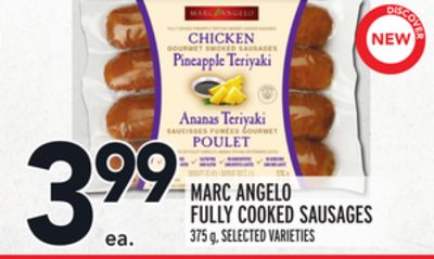 MARC ANGELO FULLY COOKED SAUSAGES