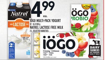 IÖGO MULTI-PACK YOGURT 12 - 16 X 100 g NATREL LACTOSE FREE MILK 2 L
