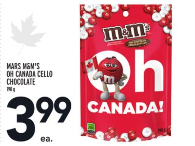 MARS M&M'S OH CANADA CELLO CHOCOLATE