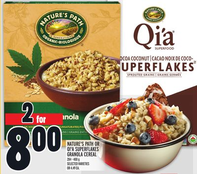 NATURE'S PATH OR QI'A SUPERFLAKES GRANOLA CEREAL