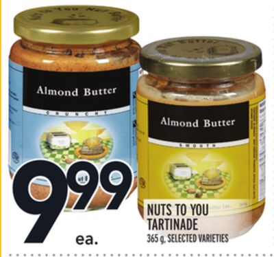 NUTS TO YOU TARTINADE