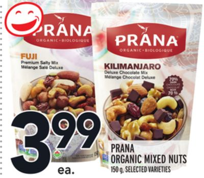 PRANA ORGANIC MIXED NUTS