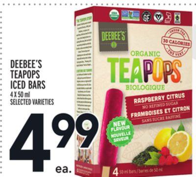 DEEBEE'S TEAPOPS ICED BARS