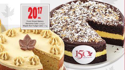 Front Street Bakery Nanaimo Cake 1.2 kg or Maple Nut Fudge Cake 1.7 kg