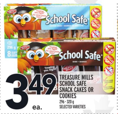 TREASURE MILLS SCHOOL SAFE SNACK CAKES OR COOKIES