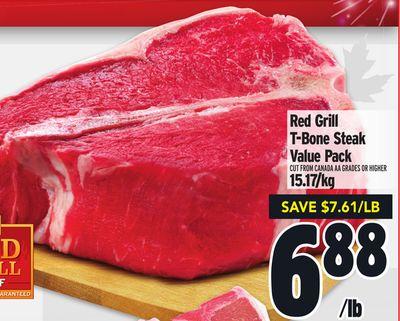 Red Grill T-Bone Steak Value Pack